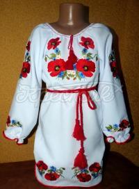 """Украинское платье на девочку """"Маковая магия"""" фото"""