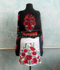 Українська вишиванка квіткова з маками