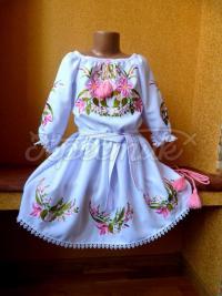 """Детское вышитое платье """"маленькая лилия"""" фото"""