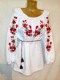 """Украинское вышитое платье """"Маки"""""""