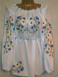 """Жіноча шифонова блузка """"Квіткова"""""""