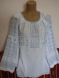Женская вышиванка шелком с мережками фото