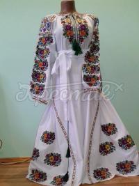 "Біла сукня вишиванка ""Борщевская идилия"" фото Хрестик Київ"
