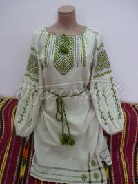 """Украинское платье вышиванка """"Зеленый орнамент"""" фото"""