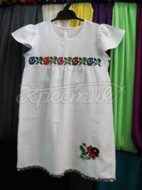 Детское платье с борщевскими цветами