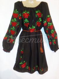 Черное женское шифоновое платье