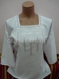 """Жіноча вишиванка білим по білому """"Шовк"""" фотографія"""