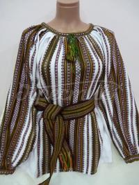 Жіноча ткана вишиванка зелень