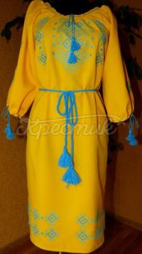 """Вишите жіноче плаття """"сонячне поле"""" купити"""