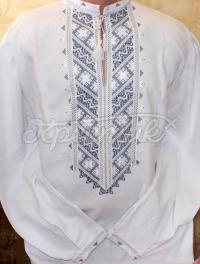 Чоловіча сорочка вишиванка вишита хрестиком. Чоловіча біла вишиванка купити