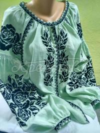 Вишита жіноча блузка М'ята купити