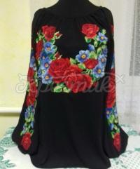 """Элегантная женская вышиванка """"Кармель"""" с цветами"""