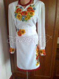 """Жіноча вишита сукня """"Сонячна квітка"""" фото"""