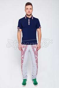 Мужские брюки с украинским узором купить Киев