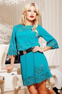 Бірюзове плаття з візерунком купить Украина