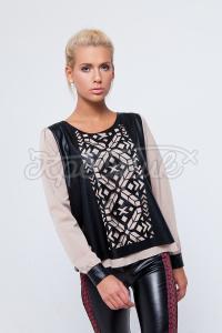 Контрастная блуза в стиле фолк заказать в интернете
