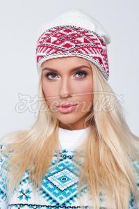 В'язана шапка з візерунком замовити в інтернеті
