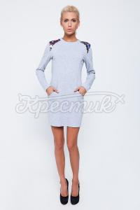Купить серое платье с карманами в Киеве