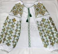 Блузка з вишивкою яскраві візерунки фото