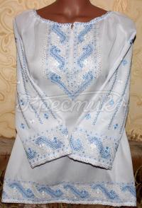 Вишита жіноча блузка Бісерна фото