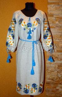 """Заказать вышитое женское платье """"Ромашки"""""""