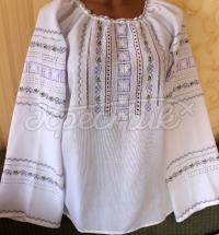 Женская вышитая блузка лютики фото