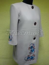 Вишите жіноче пальто на кашемірі фото