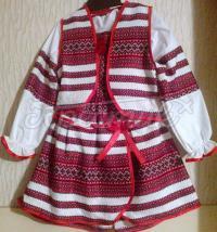 Купить детский костюм для девочки с вышивкой