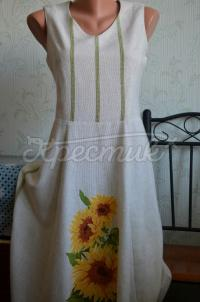 """Українське плаття вишиванка """"Соняшники"""" фото"""