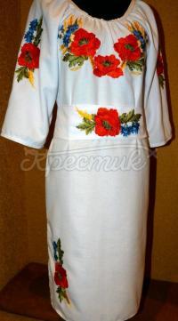 """Українське вишите плаття """"Квіткове поле"""" фото"""