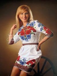 """Украинское платье вышиванка """"Маковое раздолье"""" фото"""