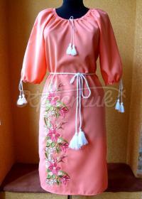 """Вышитое украинское платье """"розовые мечты"""" купить"""