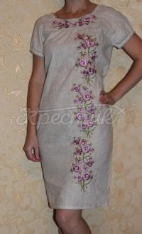 """Платье в украинском стиле с вышивкой """"Цветочки"""""""
