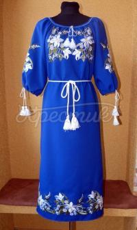 """Украинское платье с вышивкой """"дикая лилия"""" на заказ"""