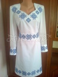 """Жіноча вишита сукня """"Снігова королева"""" фото"""