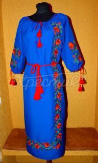"""Украинское платье вышиванка """"Мечтающая роза"""" купить"""