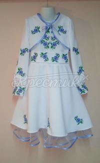 Ошатне плаття для дівчинки Незабудки фото