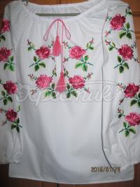"""Вышиванка для девочки """"Розовые розы"""""""