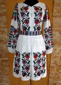 """Українське плаття """"Борщівські квіти""""  фото"""