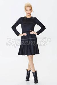 Платье из плотного трикотажа с люрексом фото