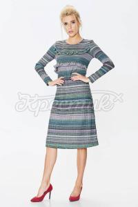 Комфортное платье с длиной миди из трикотажа фото