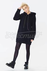 Трикотажна сукня з начосом фото