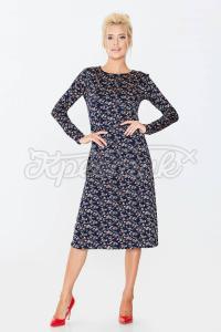 Елегантне плаття з чорного трикотажу фото