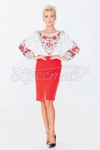 Блуза жіночного ніжного дизайну з шифону фото