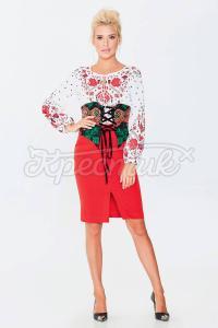 Корсет на шнуровкі із бархата с ярким квітковим принтом фото