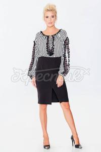 Модна спідниця-олівець з щільної костюмної тканини фото