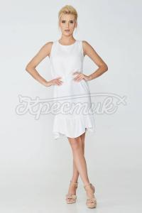 Сукня прямого крою з широким воланом фото