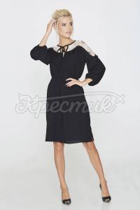 Однотонне трендове плаття з костюмної тканини фото