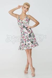 Літнє плаття на льоні з принтом фото