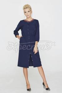Сукня стильного забарвленням з ніжним дрібним принтом фото